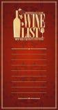 Uitstekende het ontwerpkaart van de Wijnlijst royalty-vrije illustratie