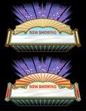 Uitstekende het Ontwerpreeks van de Filmmarkttent vector illustratie