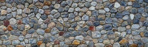 Uitstekende het panoramaachtergrond van de steenmuur Close-up Stock Foto