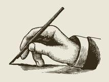 Uitstekende het schrijven hand stock illustratie