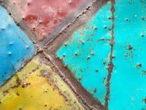 Uitstekende het staalachtergrond van de metaalplaat stock afbeeldingen