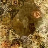 Uitstekende het themaachtergrond van de klokkentijd Royalty-vrije Stock Afbeelding