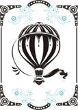 Uitstekende hete luchtballon Stock Afbeelding