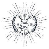 Uitstekende Hipster Logo Arrows met Lintvector Royalty-vrije Stock Foto's