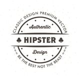Uitstekende Hipster Logo Design Template Vector Royalty-vrije Stock Foto's