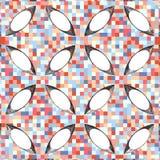 Uitstekende Hipster-van het Mozaïek Geometrische Patroon Vector Als achtergrond Stock Fotografie