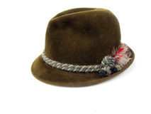 Uitstekende hoed - olijf felt1 Stock Afbeelding