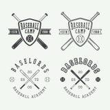 Uitstekende honkbalemblemen, emblemen, kentekens en ontwerpelementen Stock Foto