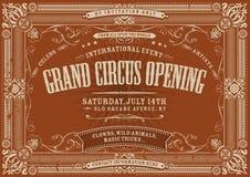 Uitstekende Horizontale Circusachtergrond Royalty-vrije Stock Foto's