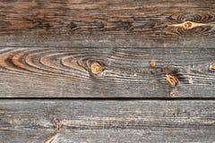 Uitstekende houten achtergrond Oude houten grijze bruine doorstane textuur als achtergrond Stock Afbeelding
