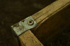 Uitstekende houten bouw royalty-vrije stock afbeelding
