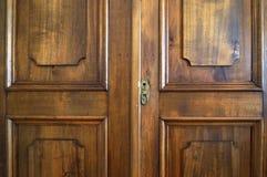 Uitstekende houten bruine achtergrond Achtergrond voor tekst, banner, etiket Royalty-vrije Stock Foto