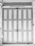 Uitstekende houten deur Stock Foto