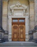 Uitstekende houten deur, Dresden, Duitsland Royalty-vrije Stock Afbeeldingen