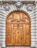 Uitstekende houten deur, Dresden Duitsland Royalty-vrije Stock Afbeelding