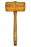 Uitstekende houten hamer stock foto