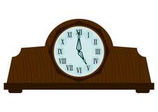 Uitstekende houten klok Royalty-vrije Stock Afbeelding