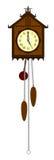 Uitstekende houten klok Royalty-vrije Stock Fotografie