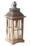 Uitstekende houten lantaarn Royalty-vrije Stock Afbeelding