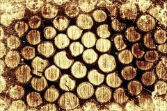Uitstekende houten logboeken Stock Foto