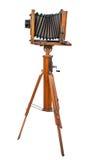 Uitstekende houten meningscamera Royalty-vrije Stock Afbeeldingen