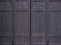 Uitstekende houten poort royalty-vrije stock afbeelding