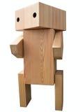 Uitstekende houten robot Stock Afbeelding
