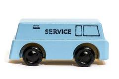 Uitstekende houten stuk speelgoed auto of vrachtwagen Royalty-vrije Stock Foto