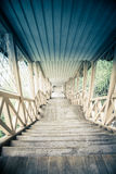 Uitstekende houten trap Stock Foto's