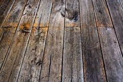 Uitstekende houten vloerachtergrond Stock Foto's