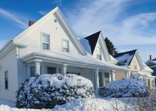Uitstekende huizen Royalty-vrije Stock Afbeeldingen