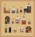 Uitstekende huizen scetch Royalty-vrije Stock Fotografie