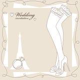 Uitstekende huwelijksuitnodiging Stock Foto