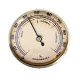 Uitstekende hygrometer stock foto