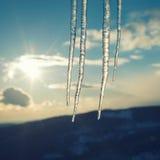 Uitstekende ijskegels Stock Afbeelding
