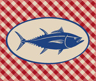 Uitstekende illustratie van tonijnvissen vector illustratie