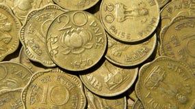 Uitstekende Indische Muntstukken royalty-vrije stock afbeelding