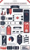 Uitstekende infographics Stock Foto's