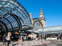 Uitstekende ingang van Hamburg Hauptbahnhof stock fotografie