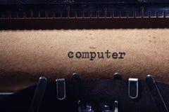 Uitstekende inschrijving die door schrijfmachine wordt gemaakt Stock Foto's