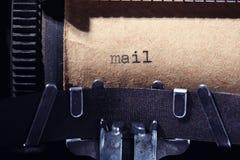 Uitstekende inschrijving die door schrijfmachine wordt gemaakt Stock Afbeeldingen