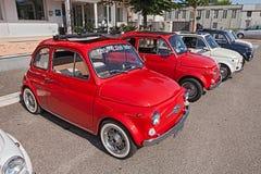 Uitstekende Italiaanse auto's Fiat 500 Stock Afbeelding