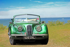 Uitstekende jaguarxk120 convertibele auto Stock Foto