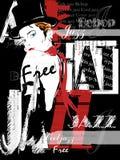 Uitstekende Jazz Poster Background Stock Afbeelding