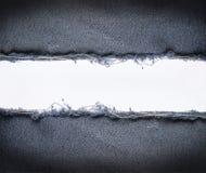 Uitstekende jeans met witte ruimte Stock Foto's