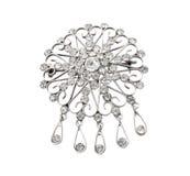 Uitstekende juwelenbroche Royalty-vrije Stock Foto