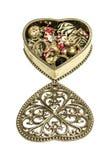Uitstekende juwelendoos Royalty-vrije Stock Afbeeldingen