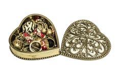 Uitstekende juwelendoos Royalty-vrije Stock Foto