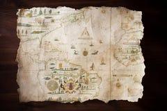Uitstekende kaart royalty-vrije stock afbeelding
