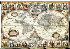 Uitstekende kaart. Royalty-vrije Stock Foto